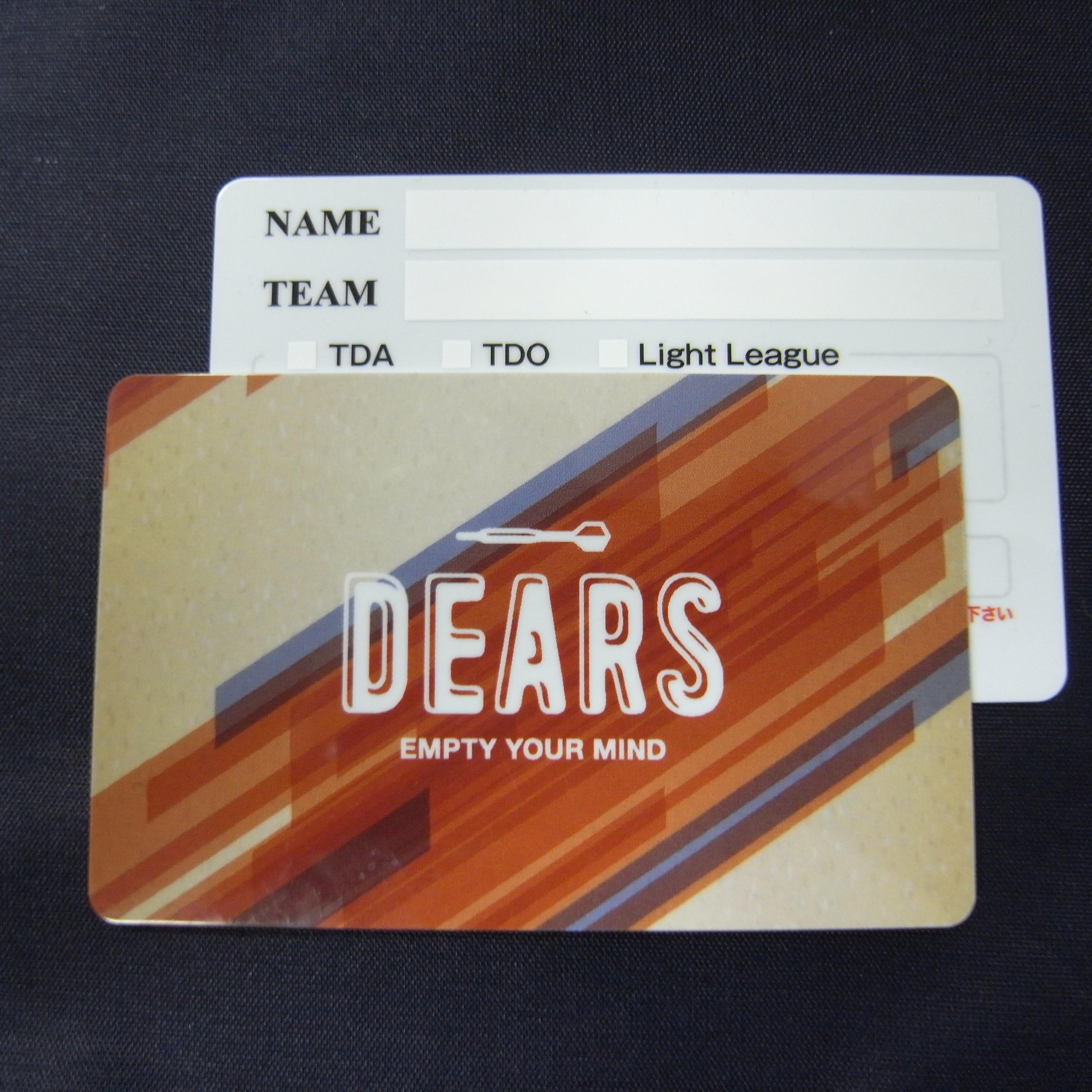 ダーツバー巣鴨ディアス会員カード