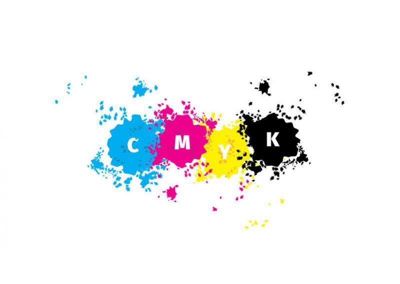 CMYKのイラスト
